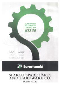Certificate - Euroricambi 2019