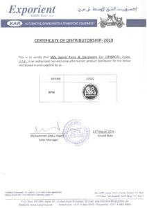 Certificate - Exporient 2019