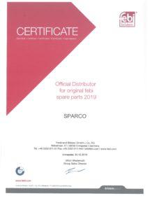 Certificate - FEBI Bilstein 2019