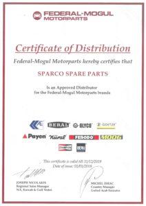 Certificate - Federal Mogul 2019