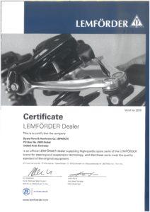Certificate - LMI 2019
