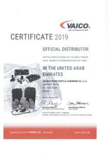 Certificate - VAICO 2019
