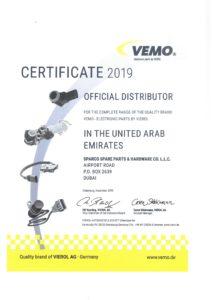 Certificate - Vemo 2019