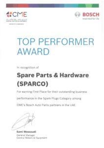 SPARCO CME- AWARD 2019