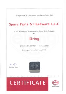 Certificate - Elring 2021